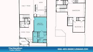 the marathon floor plan tour lennar dallas youtube