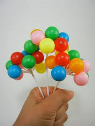 big plastic balloons 3 clusters colorful plastic balloon picks cupcake or cake topper