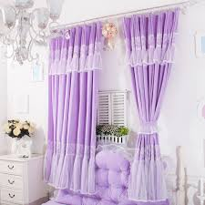 Purple Bedroom Curtains Korean Style Princess Purple Lavender Curtains For Girls Room