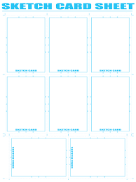 free comic book resources u2013 sketch card sheet