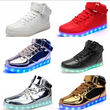 light up sneakers light up shoes classic high top light up shoes for adults kids