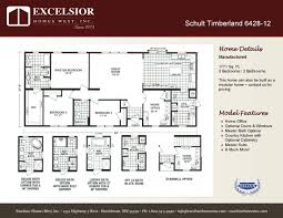 schult modular home floor plans schult timberland 6428 12 excelsior homes west inc