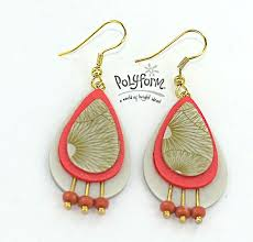 beginner earrings 550 best pendientes polymerclay images on jewelry