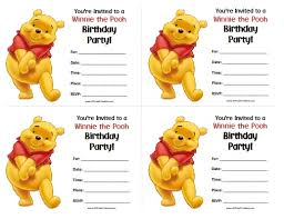 winnie the pooh birthday invitations free printable