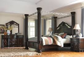 mirrored canopy bed king vanity and nightstand decoration laddenfield poster canopy bedroom collection phonics pinterest mirrored canopy bed frame