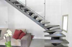 china modern design steel beam stringer open staircase indoor with