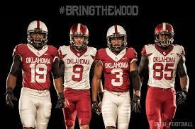 oklahoma wood oklahoma sooners bring the wood with new alternate football
