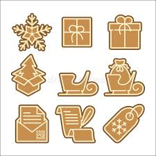 christmas cookie vector icons set stock vector image 47760225