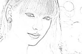 taylor swift coloring free printable pages new glum me