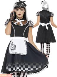 adults dark wonderland costume mens ladies rabbit queen halloween