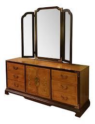 ralph lauren metal mirrors made by henredon vintage u0026 used black standard dressers chairish