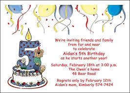 inspiring 5th birthday invitation cards 99 for your gift card