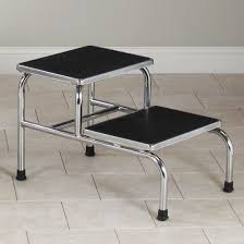 2 Step Handrail Clinton Chrome Two Step Step Stool Free Shipping