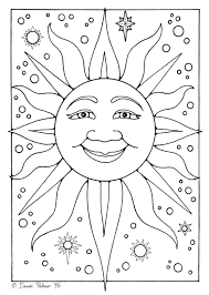 161 sun moon stars coloring images sun
