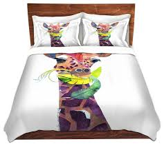 Duvet Covers King Contemporary Dianoche Duvet Covers Twill Giraffe Contemporary Duvet