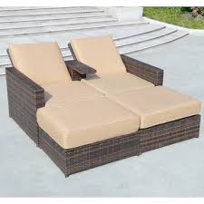 double patio chaise lounge chairs you ll love wayfair