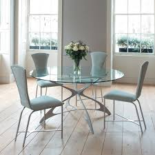 Glass Round Dining Table For  Iron Wood - Glass round dining room tables