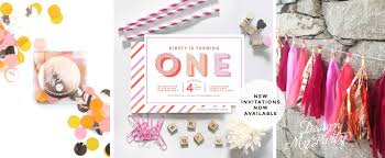 personalised invitations tassel garlands confetti balloons