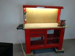 workbench with pegboard and light workbench with pegboard garage work bench add peg board painted red