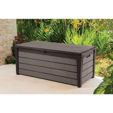 Lifetime 60012 Extra Large Deck Box Instructions by Amazon Com Keter Brushwood 120 Gal Resin Patio Or Pool Deck Box