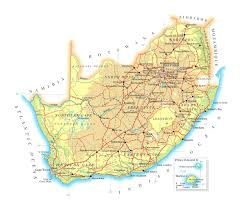 Africa Maps by Detailed Physical And Road Map Of South Africa Detailed Physical