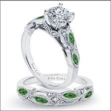 green wedding rings kirk kara this vintage inspired engagement ring and wedding band
