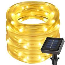 amazon com le 33ft 100 led solar power lights waterproof