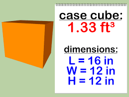 how to calculate the case cube of a box 4 steps with pictures