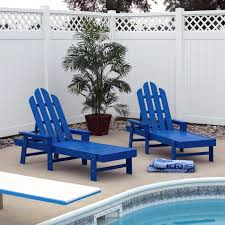 Lounge Chairs For Patio Design Furniture Polywood Chaise Lounge In Blue With Concrete Floor Also
