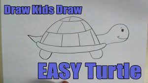 how to draw easy turtle youtube