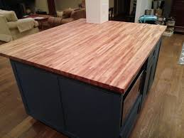 handmade custom shaker style kitchen island with butcher block