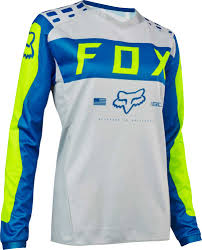 blue motocross gear 2017 fox racing womens 180 jersey mx motocross off road atv dirt
