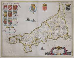 Cornwall England Map by Blaeu Cornwall Michael Jennings Antique Maps And Prints