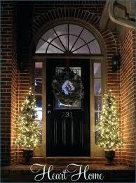 christmas spotlights front porch christmas trees three spotlights front porch christmas