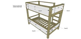 Diy Furniture Plans by Free Diy Furniture Plans How To Build A Duet Bunk Bed The