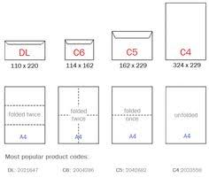 Envelopes Size Paper And Envelope Size Reference List For Graphic Designers