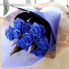wedding flowers gift hanako rakuten global market blue flower gift roses 10 birthday