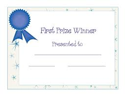 2nd prize winner certificate powerpoint template designed by