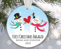 our engaged ornament engagement ornament