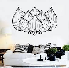 wall stickers murals vinyl wall decal lotus flower hinduism studio hindu stickers