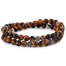 double beaded bracelet images Atolyestone mens jewelry double beaded bracelets atolyestone jpg