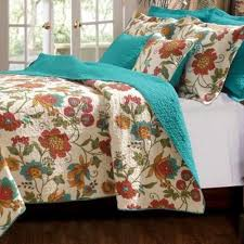 turquoise quilted coverlet turquoise bedding ebay