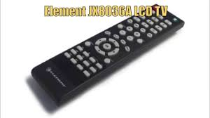 element jx8036a remote control www replacementremotes com youtube