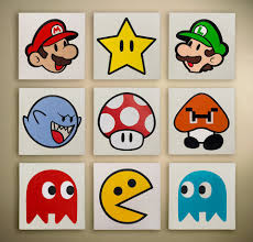great imagery for a kids room or game room could be a cheap diy