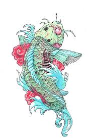 carp fish tattoo zombie koi fish tattoo drawing photos pictures and sketches