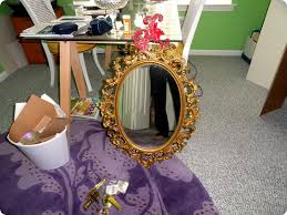 Home Makeover 2010 by First Home Makeover Spray Painted Mirror