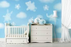 papier peint pour chambre d enfant drôles de nuages papier peint pour la chambre d enfant papiers