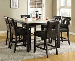 High Top Table Set Kitchen Table Dining Table And 6 Chairs 7 Piece Counter Height