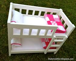 Thats My Letter DIY Camp Bunk Bed For Dolls - Dolls bunk bed
