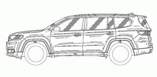 range rover sketch 2018 jeep grand commander revealed in patent sketches photos 1